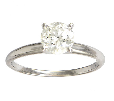 Diamond Solitaire Ring, 1cttw, 14K White Gold ,by Affinity