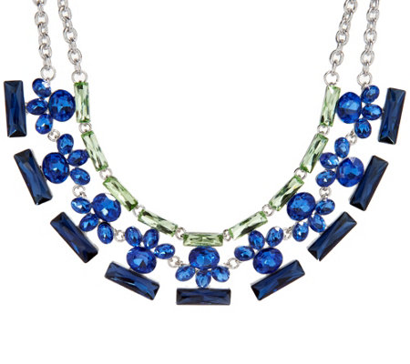 """As Is"" Isaac Mizrahi Live! Crystal Statement Necklace"
