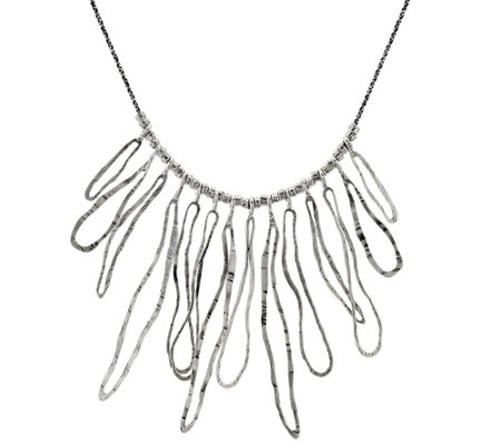 """As Is"" Or Paz Sterling Silver Statement Necklace"