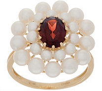 Honora Gemstone and Pearl Flower Ring, 14K Gold - J357297