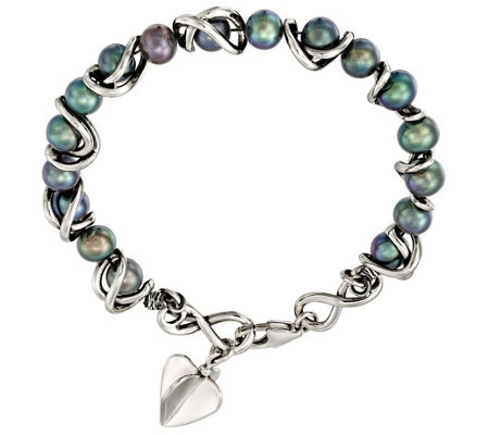 Hagit Sterling Round Cultured Pearl Bracelet
