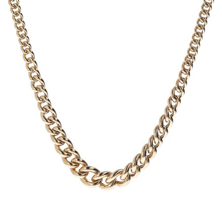 "Arte d'Oro 18"" Graduated Rolo Link Necklace, 11.5g"