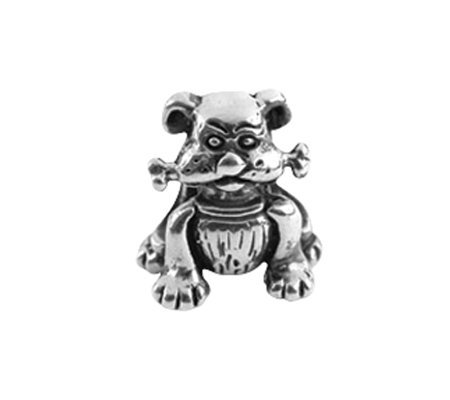 Prerogatives Sterling Dog with Bone Bead