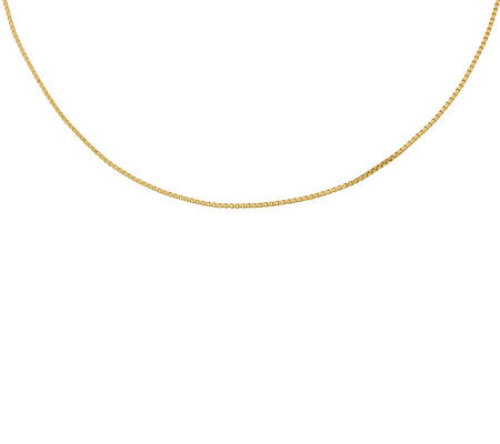 "20"" Polished Box Chain,14K Gold 2.9g"