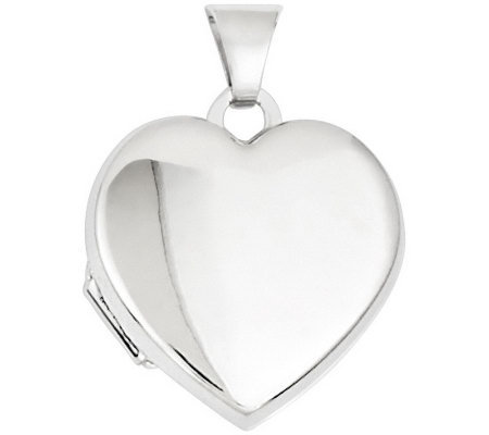 Polished Heart Locket, 14K Gold