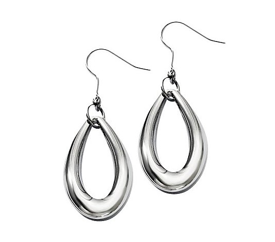 Steel by Design Polished Teardrop Dangle Earrings