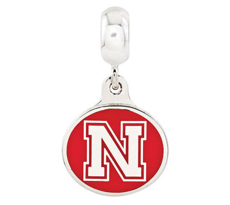 Sterling Silver University of Nebraska Dangle Bead