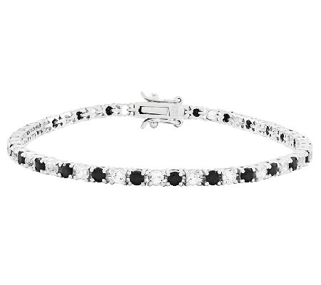 Sterling 7 3 4 Round Gemstone White Topaz Tennis Bracelet