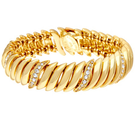 Joan Rivers Joan's Polished and Pave' Link Bracelet