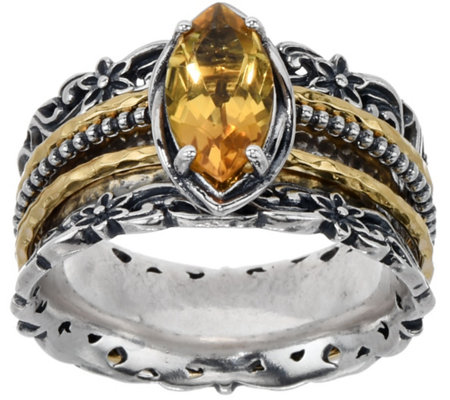 Or Paz Sterling Marquise Gemstone Spinner Ring