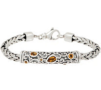 Or Paz Sterling Silver Gemstone Accent 21.0g Spiga Bracelet - J354298
