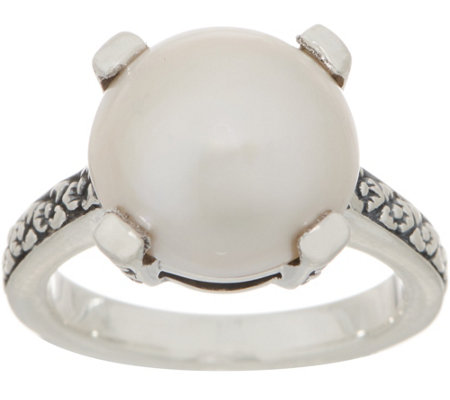 Stephen Dweck Sterling Silver And Cultured Mabe Pearl Ring