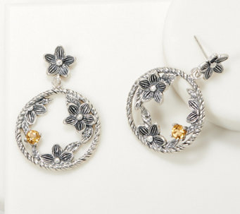 Or Paz Sterling Silver Gemstone Accent Circle Dangle Earrings - J361198