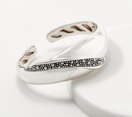 Michael Dawkins Sterling Silver Starry Night Wave Cuff 49 0g