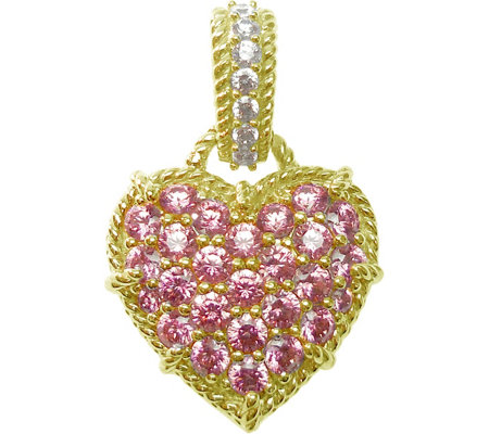 Judith Ripka 14K Clad Diamonique & Choice of Heart Enhancer