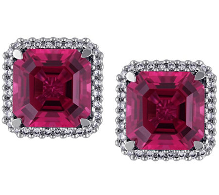 14K 7.15 cttw Tourmaline & 1/4 cttw Diamond Earrings