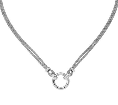 Italian Silver Circle Necklace Sterling, 13.6g
