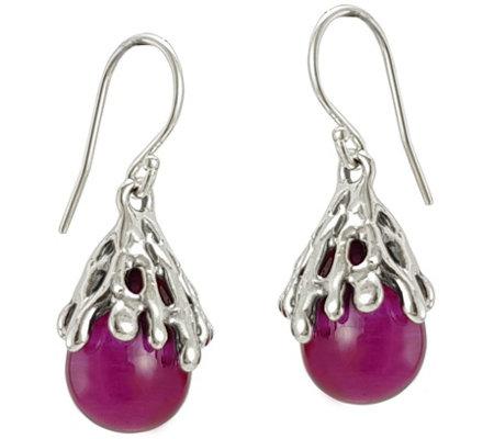 Kalos By Hagit Sterling Silver Teardrop Bead Dangle Earrings