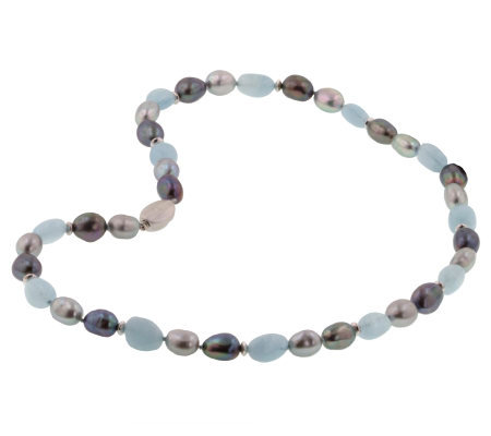 Honora Cultured Pearl & Gemstone Necklace