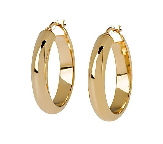 "Veronese 18K Clad 1"" Wedding Band Hoop Earrings"