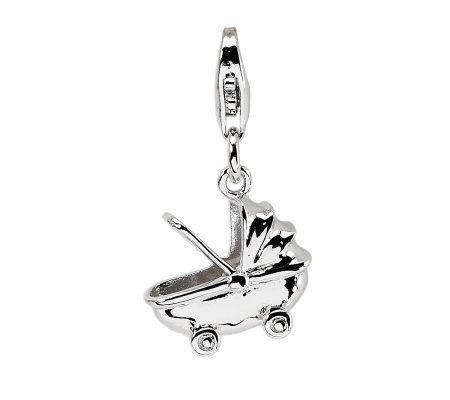 Amore La Vita Sterling Baby Carriage Charm