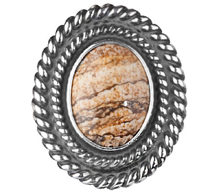 American West Treasures Sterling JasperMagnetic Insert