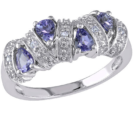 0.55cttw Tanzanite Band Ring, Sterling