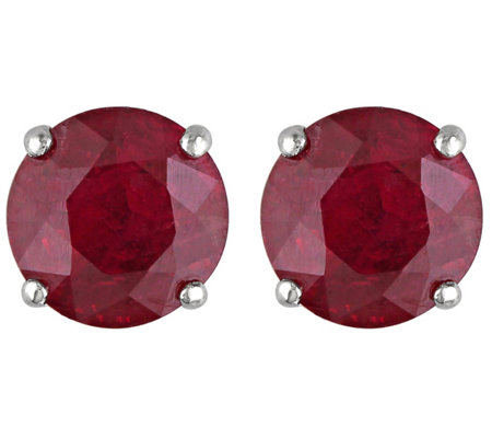 1 10 Cttw Ruby Stud Earrings 14k White Gold