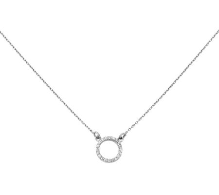 Dainty Designs 14K Diamond Accent Open Circle Necklace