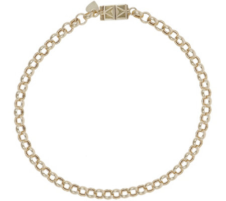 "Italian Gold 7-1/4"" Rolo Bracelet with Click Secure 14K, 3.0g"