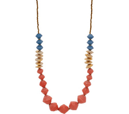 31 Bits Multi-Color Beaded Cobblestone Necklace