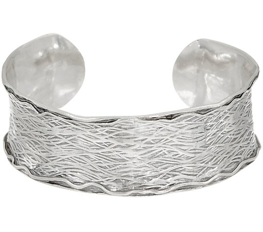 Or Paz Sterling Silver Textured Cuff 26.0g