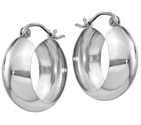 "14K Round 3/4"" Hoop Earrings"