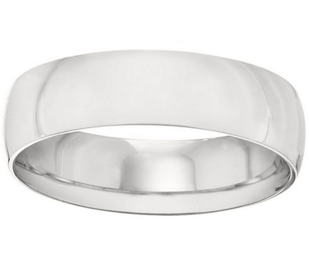Men's Platinum 6mm Half Round Wedding Band