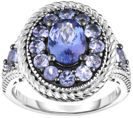 Sterling 2.25 cttw Tanzanite Ring
