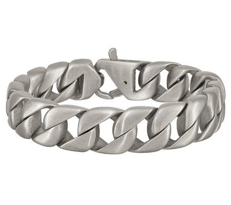 Steel By Design Mens 8 12 Brushed Curb Linkbracelet Qvccom