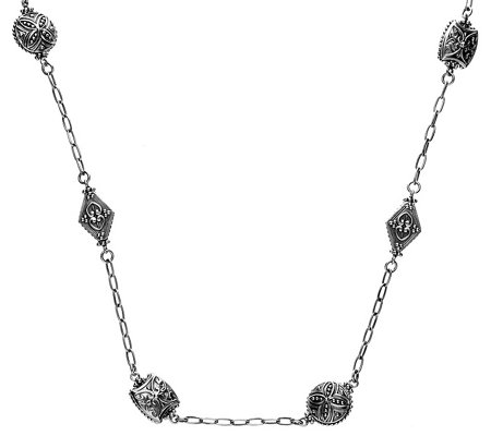 "Elyse Ryan 18"" Sterling Station Necklace"