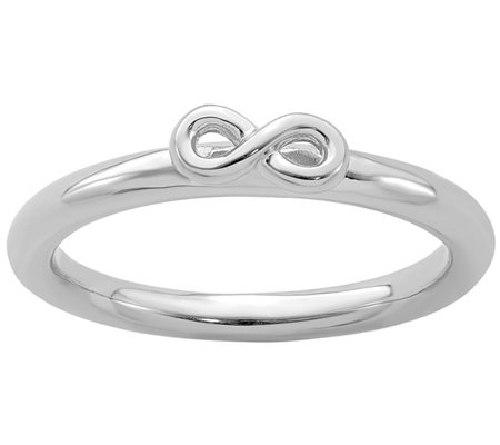 Simple Stacks Sterling Infinity Band Ring