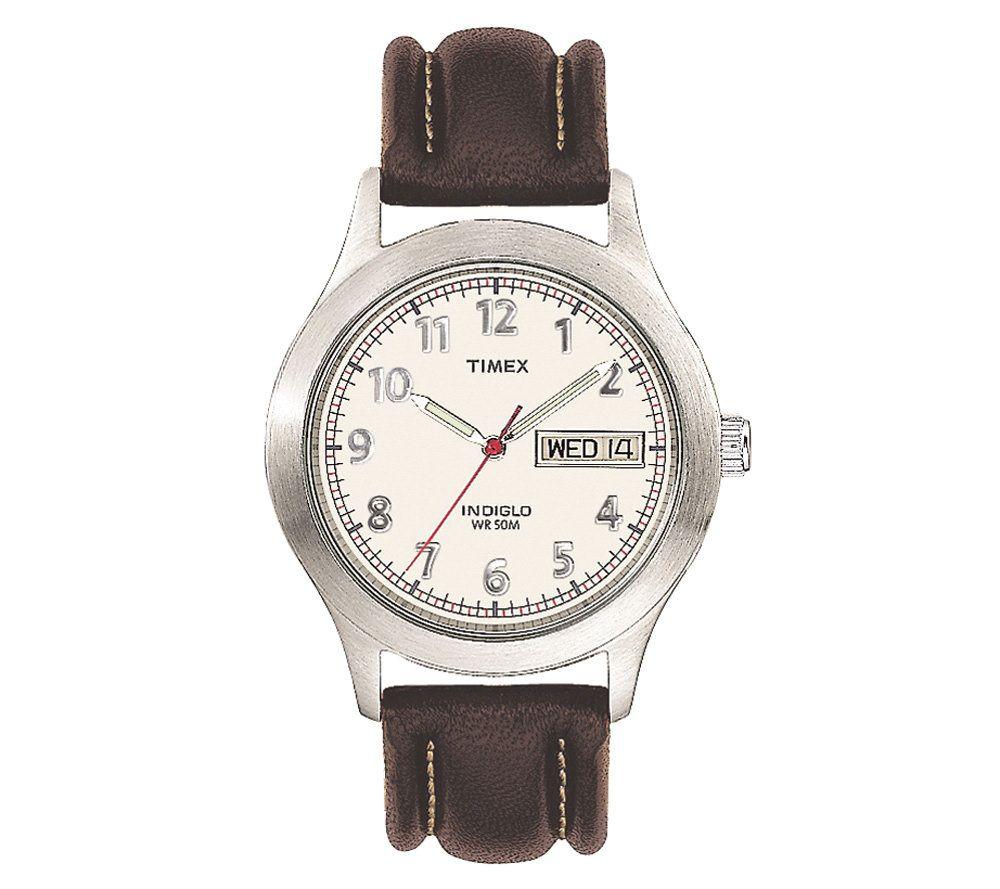 Timex Menu0027s Classic Analog Watch With Indiglo Night Light U2014 QVC.com