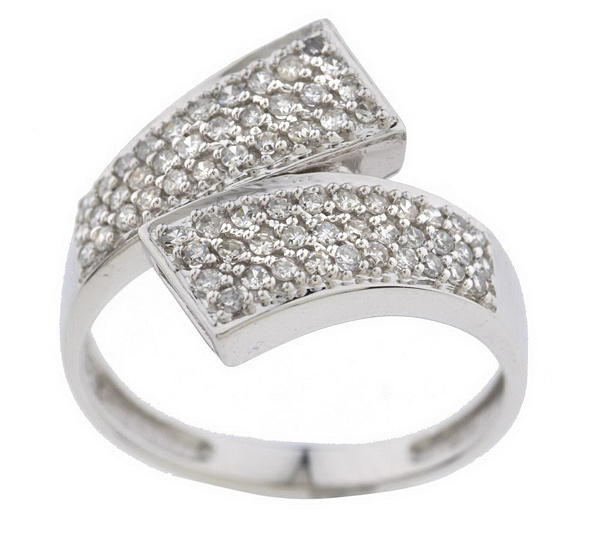As Is Affinity Diamond 1 3 Ct Tw Bypass Ring 14k Gold Qvc Com