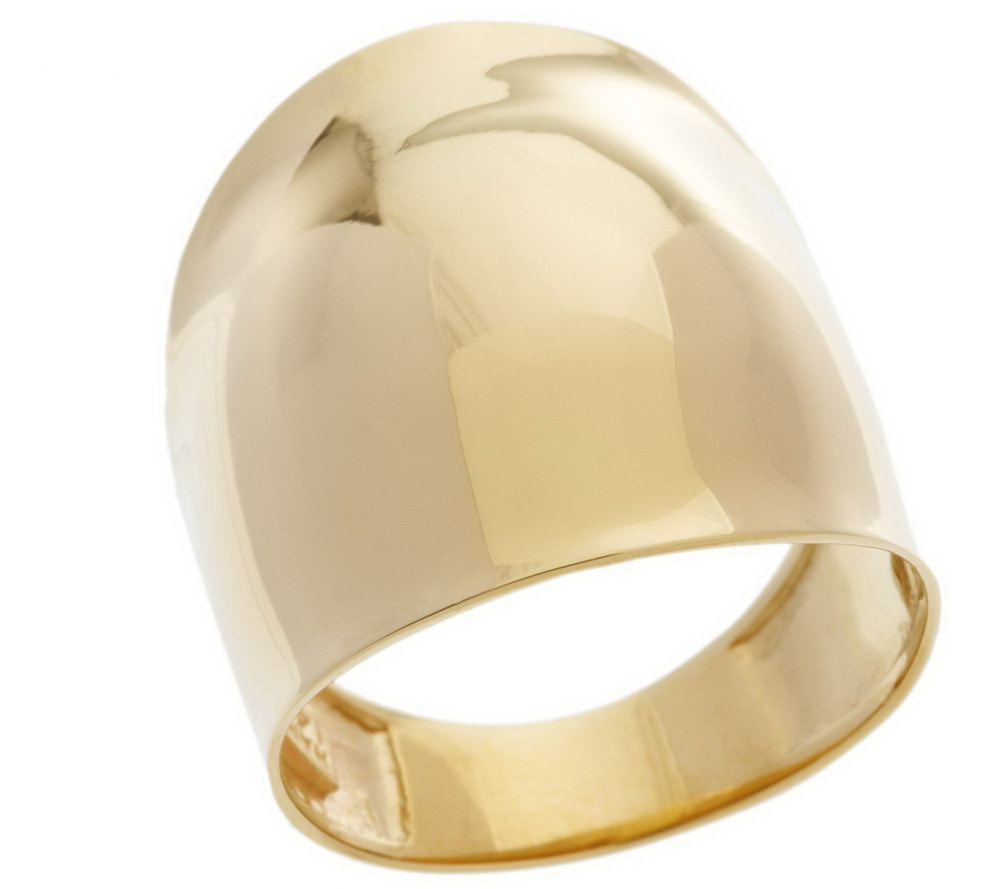 Bold Polished Sculpted Dome Ring 14K Gold Page 1 — QVC