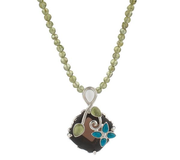 Carolyn pollack sterling basket of joy pendant on bead necklace carolyn pollack sterling basket of joy pendant on bead necklace page 1 qvc aloadofball Gallery