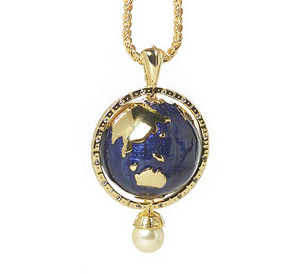 Kenneth jay lanes world peace pendant with 34 chain qvc aloadofball Image collections