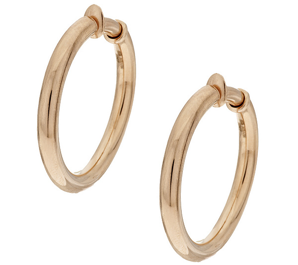 Non Pierced Round Hoop Earrings Product Thumbnail In Stock
