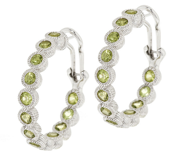 Peridot Hoop Earrings Back To Video
