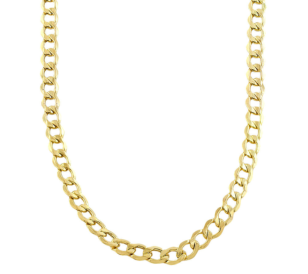 "24"" Curb Chain Necklace 14K Gold — QVC"