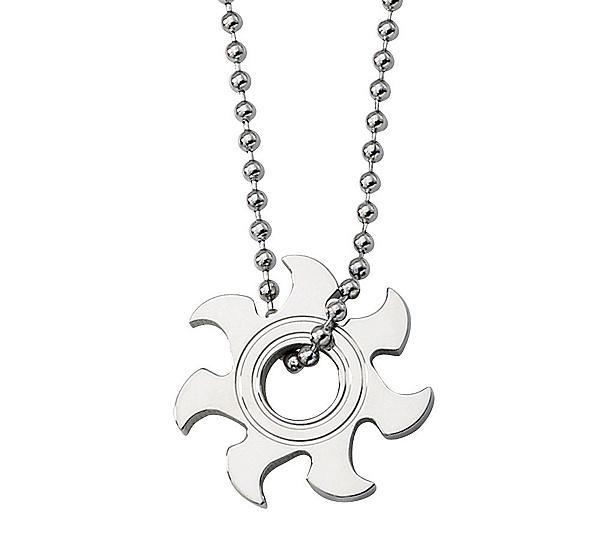 Forza stainless steel sunburst pendant w 22 chain qvc aloadofball Images