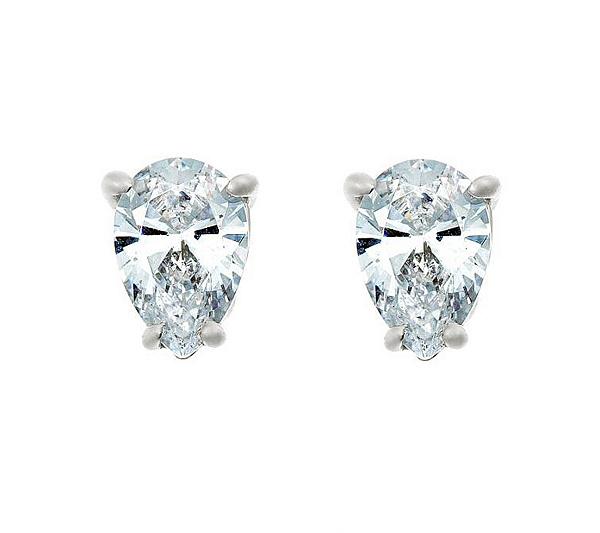Pear Diamond Stud Earrings 14k 1 2cttw By Affinity