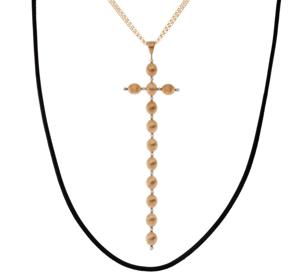 Image result for Lisa R's G.I.L.I. Long Crystal Dangle Cross Necklace Options