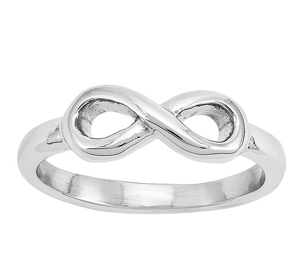 Stainless Steel Infinity Symbol Ring Page 1 Qvc